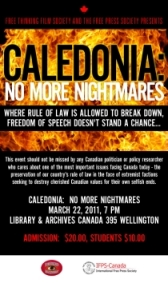 March 22/11: Free Thinking Film Society & International Free Press Society bring Caledonia to Ottawa