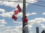 July 12, 2009 - THE END OF THE BEGINNING: After 4 arrests during a 31 month campaign the Canadian flag is legal once again in Caledonia