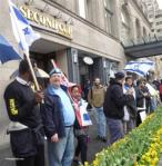110515 Israeli Consulate, Mark Vandermaas speaks to London chair of JDL