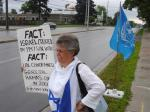 July 02/11, Day 10 of 'Blue Beret' vigil, London Muslim Mosque, London, ON, Canada