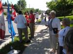 July 03/11, Day 11 of Blue Beret vigil outside London (Ontario) Muslim Mosque, London, Ontario, Canada to protest its support for Canadian Boat to Hamas (raised money & 'sent' delegate onboard)