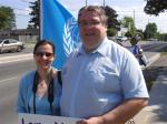 Gary & Christine McHale support Blue Beret vigil, London Muslim Mosque, June-July 2011