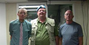 110714 Bob Metz, Mark Vandermaas, Robert Vaughan, 'JUST RIGHT' Show. PHOTO: Robert Vaughan