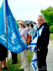 Jacob Peretz, June 25/11, Day 3 of Blue Beret vigil vs London Muslim Mosque support for Cdn Boat to Hamas