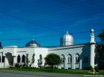 London Muslim Mosque, taken during Blue Beret vigil/protest re support for Cdn. Boat to Hamas, June 2011