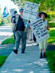 110703 Day 11 'Blue Beret' vigil, London (Ontario) Muslim mosque re support for Cdn Boat to Hamas, London, Ontario, Canada