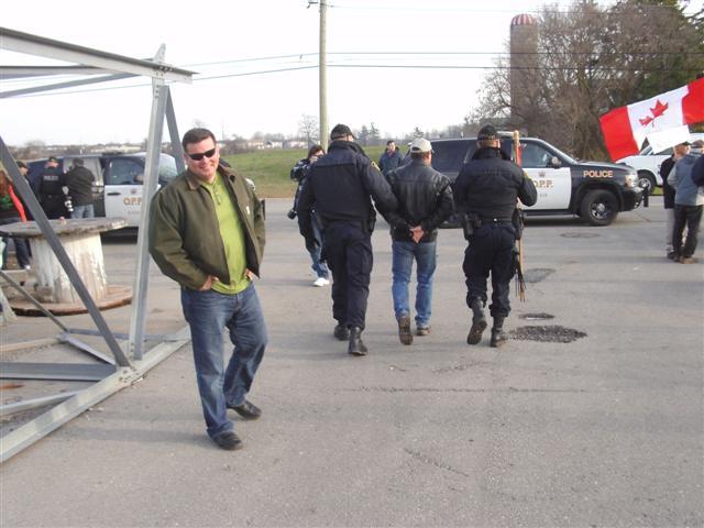 111203 Caledonia 8 - arrest of Randy Fleming