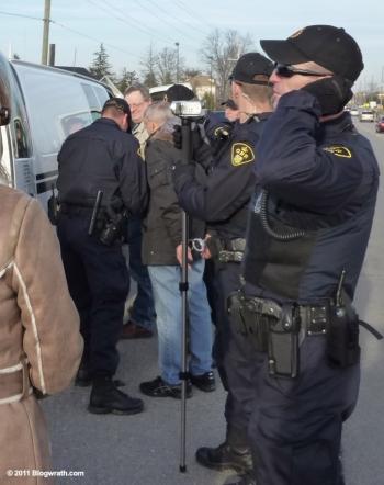 111203 111203 Merlyn Kinrade & Mark Vandermaas arrests. PHOTO by Blogwrath.com