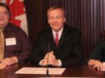 'The Caledonia Act' news conference, Queen's Park, Feb 10/12: Stuart Laughton, Never Again Group