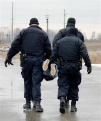 120218 History made as OPP arrest native on DCE; 1st arrest ever during commission of crime. PHOTO BY CHRISTINE MCHALE