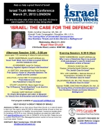 (PDF) 2012 Israel Truth Week Conference flyer - COLOUR