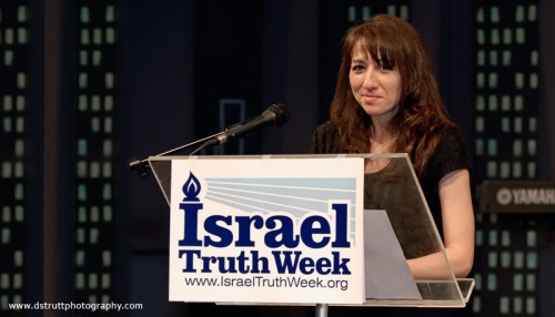 120321 Mary Lou Ambrogio, VP of International Free Press Society (co-sponsor), evening emcee, Israel Truth Week Conference, London, Ontario, Canada