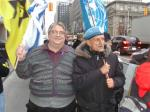 Gary McHale & Merlyn Kinrade stand with Jewish Defence League at Israel Consulate, Toronto