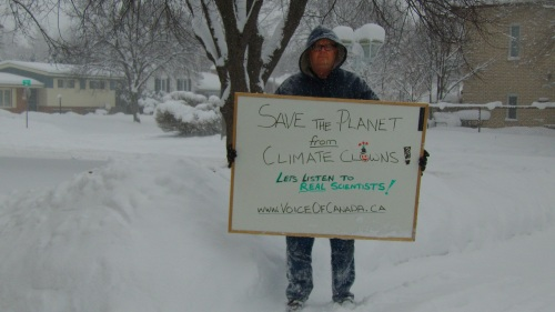 NO SNOW = global warming. LOTS OF SNOW = global warming. So say the climate clowns. Time to listen to REAL scientists!
